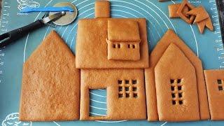 Пряничный домик: вырезаем детали. Часть 2