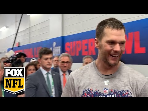 Watch Tom Brady triumphantly exit the field after his Super Bowl LIII win | FOX NFL