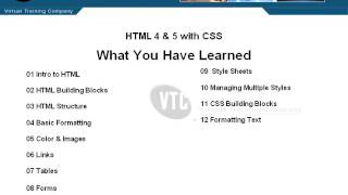 HTML 4 Html 5 Conclusion Wrap up