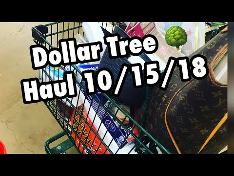 DOLLAR TREE HAUL 10/15/18 | A CART FULL - You know how it goes!