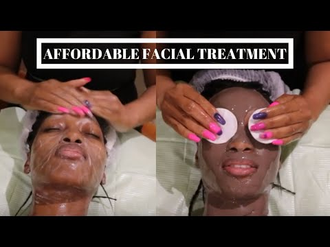 AFFORDABLE FACIAL TREATMENT | CLEANSE, STEAM, EXFOLIATE, MASK & MASSAGE | SOUTH AFRICAN YOUTUBER