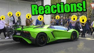 Lamborghini Aventador SV - People Reactions in Düsseldorf!