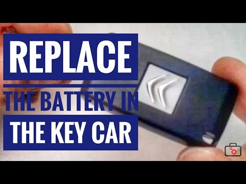 Replace the battery in the key Citroen C3
