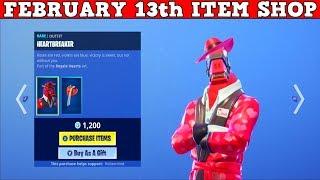 Fortnite Item Shop (FEBRUARY 14th) | *NEW* HEARTBREAKER SKIN + SKULLY SKIN!