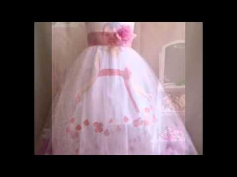 d562afab66e rose petal flower girl dress - YouTube
