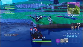 Fortnite - *New glitch in loot lake* (Found by accident)