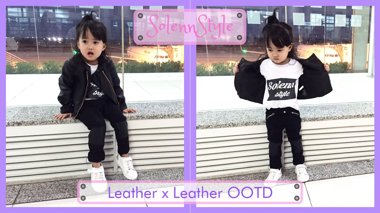 45e981562130 Solenn s Leather x Leather OOTD - H M Kids - YouTube