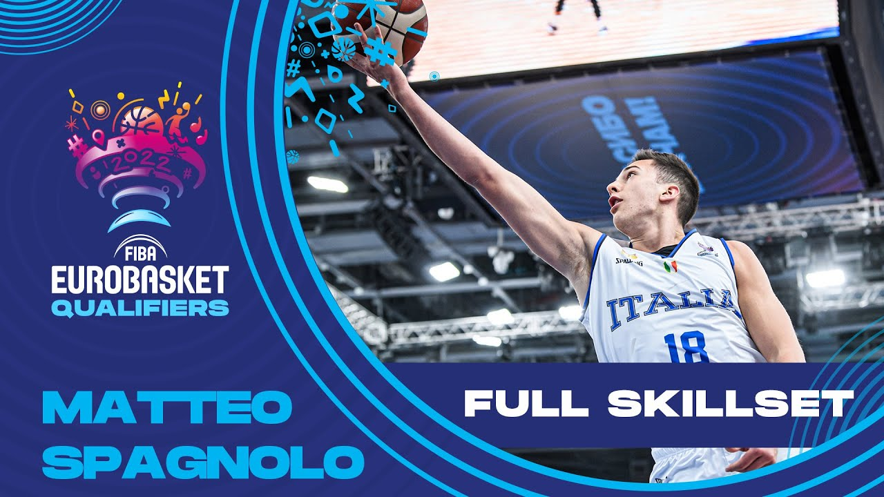 Matteo Spagnolo • Italy's Youngster   Full Highlights   FIBA EuroBasket 2022 Qualifiers