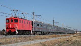 【甲種輸送】 秩父鉄道デキ506+東武9000系 10両 大麻生~明戸通過