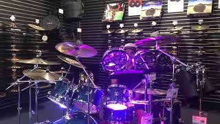 Playing Drums @ Guitar Center using Shure MV88