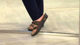 Alegria Leather Thong Sandals w/ Strap Detail - Valentina with Kerstin Lindquist