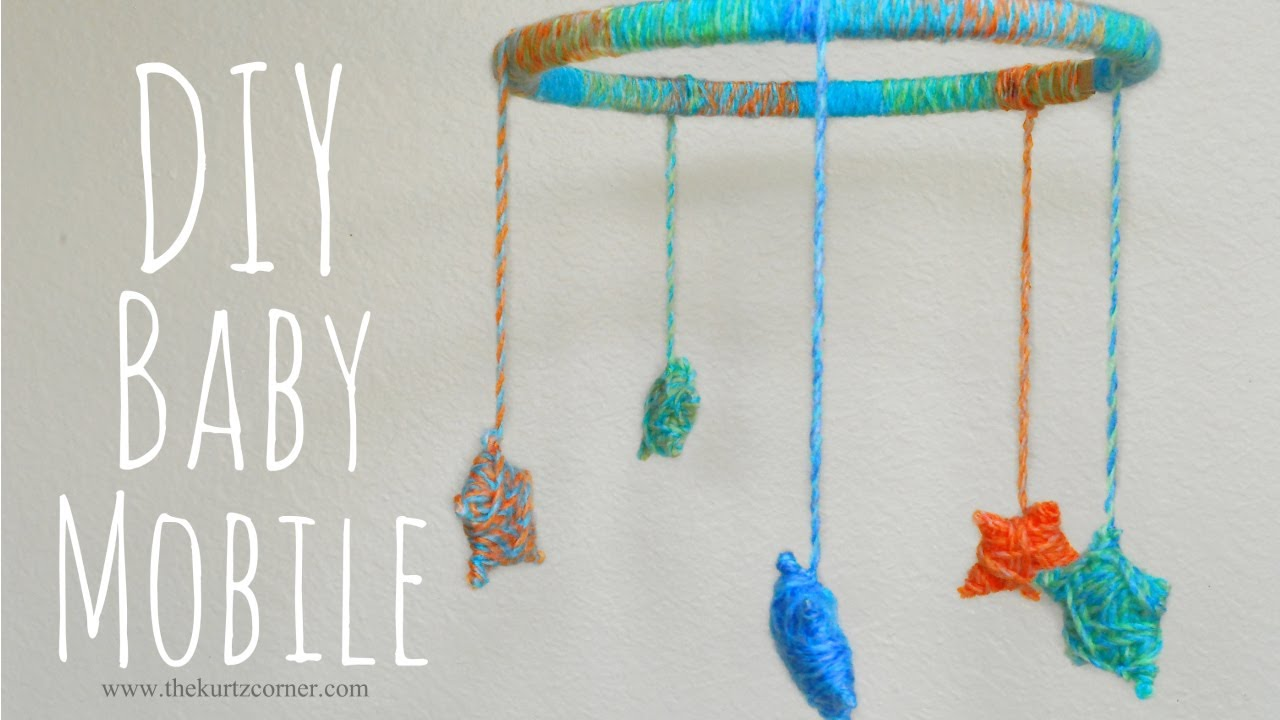 diy yarn stars baby mobile youtube. Black Bedroom Furniture Sets. Home Design Ideas