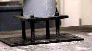 Lally Lock Column Adjustable Base Set Test Video