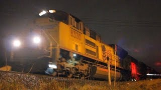 Night Railfanning Salem, Oregon 2.12.13