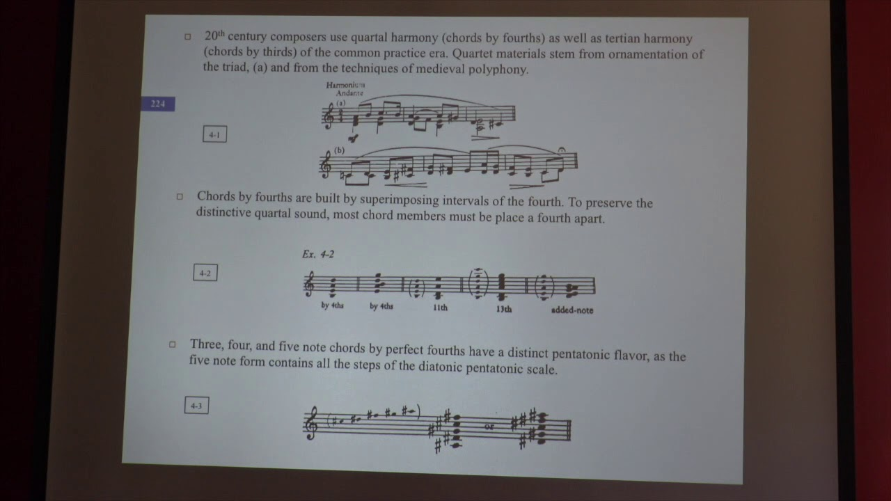 Ludwin 20th Century Harmony  Class 3 Quartal Harmony  PREVIEW