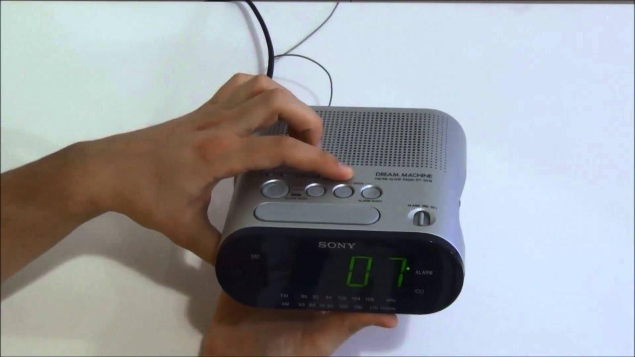 Sony Dream Machine Alarm Clock Icf C218 Manual Unique Alarm Clock