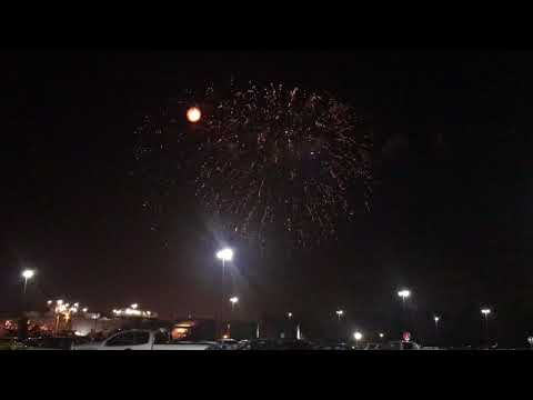 Disney MK Cast Member Parking Lot Fireworks View 4