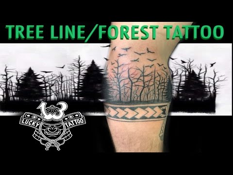 TREE LINE FOREST TATTOO TIMELAPSE