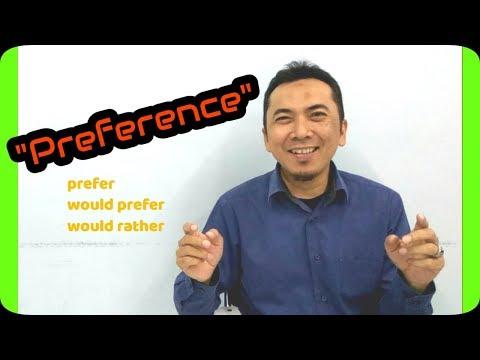 Preference dalam bahasa Inggris