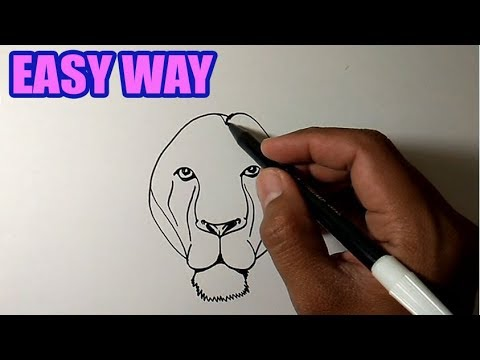 How To Draw A Lion Face Step By Step For Beginners | EASY And SIMPLE DRAWING