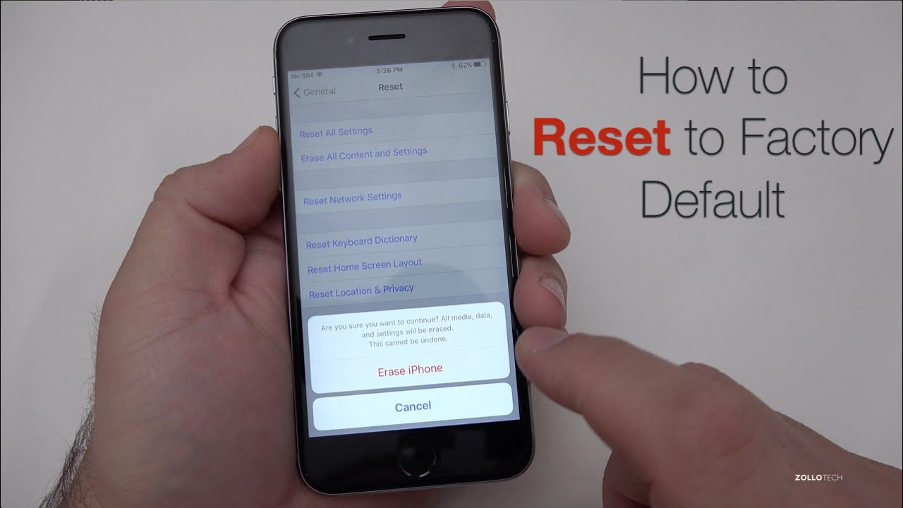 how to reset iphone without computer how to reset iphone to factory default 6423