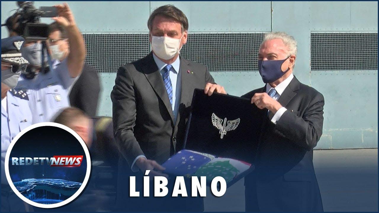 Bolsonaro acompanha saída de missão brasileira com destino ao Líbano
