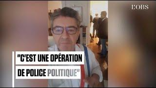 Mélenchon se filme en pleine perquisition à son domicile parisien
