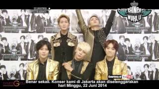 Shinee menyapa penggemarnya di Indonesia