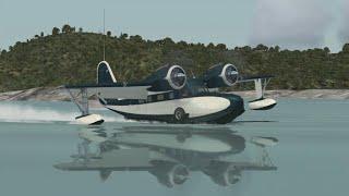 FSX グラマン・グースで田沢湖-八幡平を飛ぶ その1(Flight Tazawa-ko and Hachimantai with Grumman Goose)
