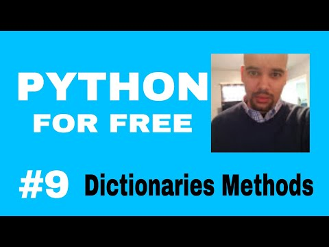 Learn Python for High Paying Job Free Course #9 dictionaries method