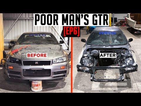 Pulling Apart The R34 SKYLINE | Poor Man's GTR [EP6]