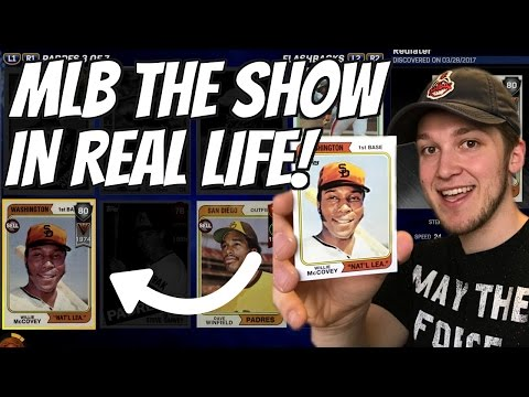 REAL LIFE MLB THE SHOW CARDS! WILLIE MCCOVEY, CAL RIPKEN JR AND MORE!
