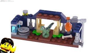 LEGO Jurassic World Baby Velociraptor Playpen polybag review 30382