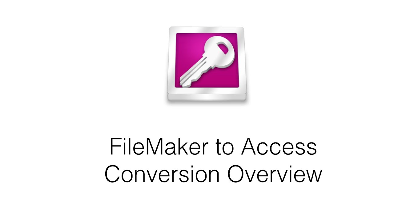 Convert FileMaker Pro to Access using FmPro Migrator