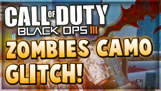 Black Ops 3 Glitches - How To Get ZOMBIES CAMOS IN MULTIPLAYER Glitch! (COD BO3 Camo Glitch)