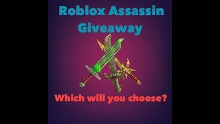 ROBLOX ASSASSIN FREE EXOTIC KNIFE GIVEAWAY!!