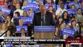 Bernie Sanders Live Speech Santa Monica California Primary 6/8/2016
