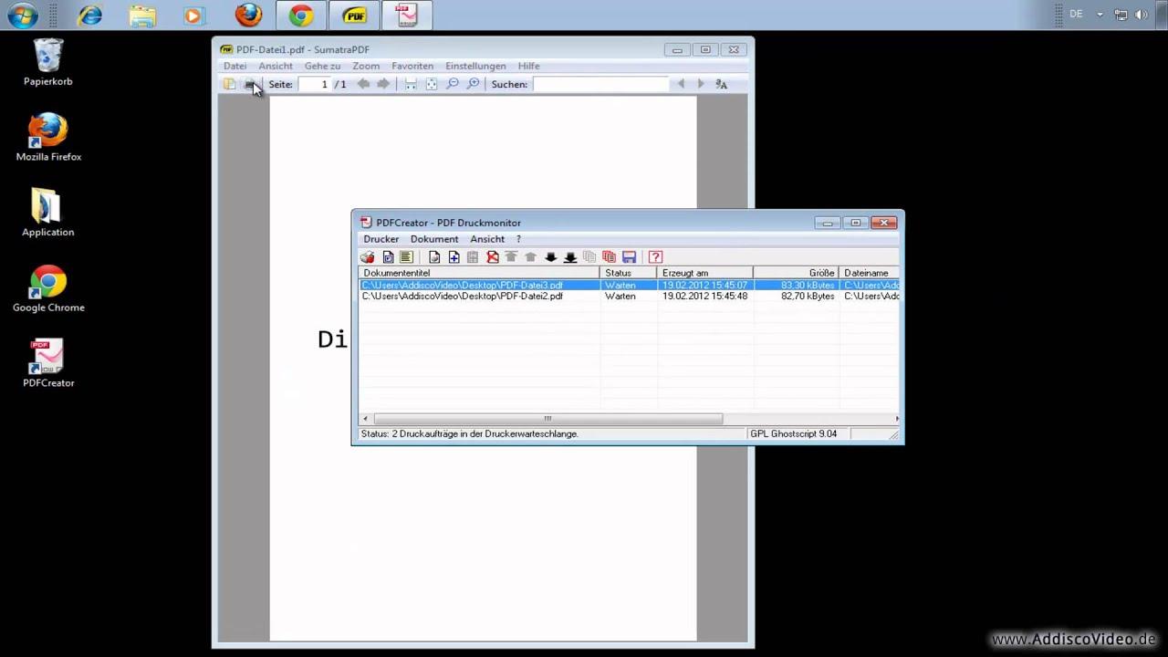 Einzelne Pdf Dateien Zu Einer Pdf Datei Zusammenfügen Pdfcreator
