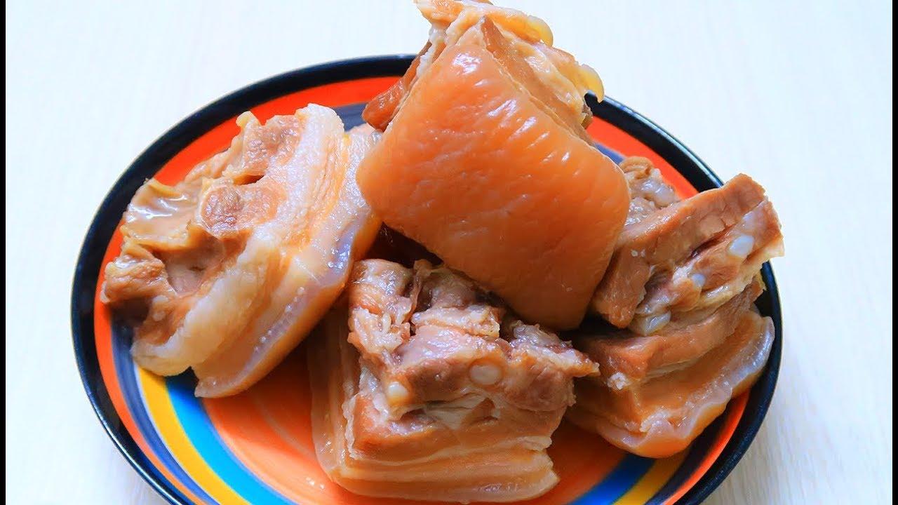 Cách làm Thịt Heo Ngâm Nước Mắm giòn ngon ăn với cơm bún cuốn bánh tráng ngon hết sảy