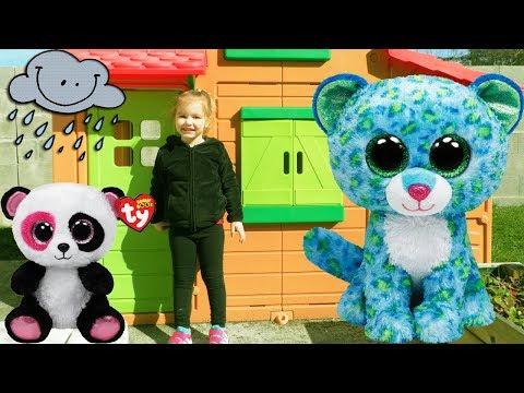 Cabane D'extérieur Maison Duplex Smoby Pour Enfant Envahie Par La Famille Peluche Ty ! Outdoor