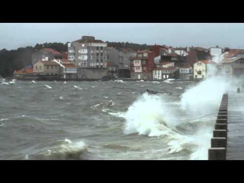 Vídeo del temporal en el paseo de Carril