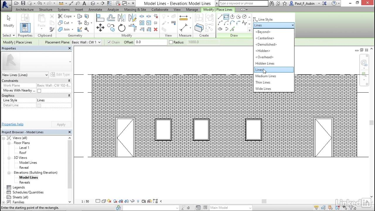 how to change wall elevation on revit