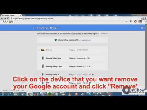 How to Remove Google account from other