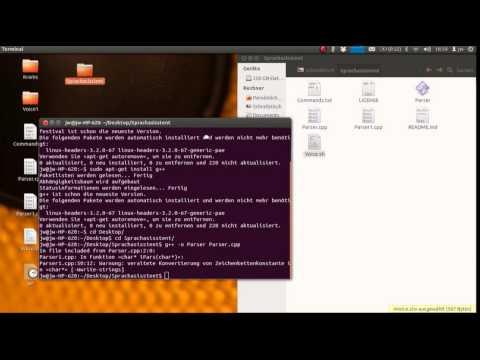Tutorial: Programmierbare Spracherkennung (Google Speech API) Linux und RaspberryPi [HD][German] #01