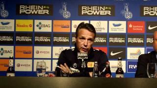 Pressekonferenz MSV Duisburg nach dem Spiel gegen Union Berlin