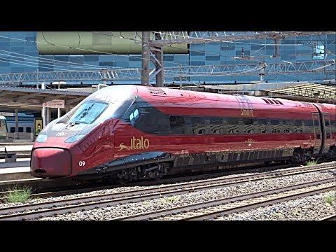 TRENI IN TRANSITO ALTA VELOCITA': Treno Frecciarossa 1000,Italo EVO NTV,Frecciargento,ETR500,ETR575