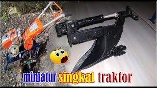 Cara membuat miniatur bajak singkal traktor sawah