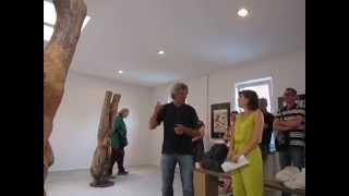 Hrdlicka Andenken, Künstlergespräch Johannes Schickinger, Finissage 11.7.14, Flierl, Berlin