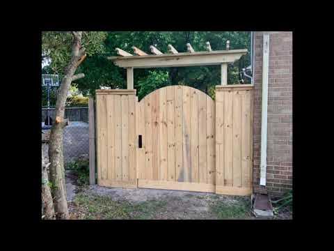 DIY Pergola Fence Gate