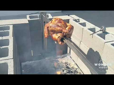 Charcoal Spit-Roasted Turkey